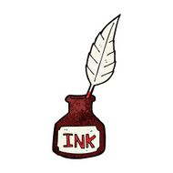 cartoon ink bottle N13
