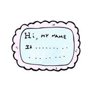 cartoon name tag N3