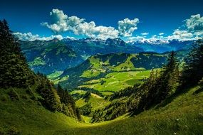 mountains valleys landscape nature