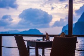 relax restaurant sea view