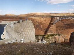 tourist attraction glen canyon dam in USA