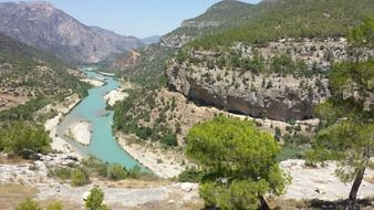 river between mountains in turkey