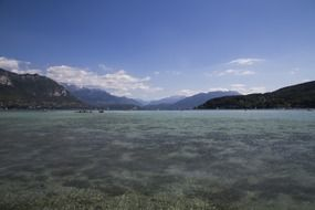 view of lake Annecy in France