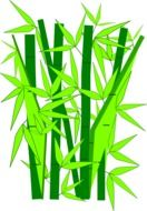 painted bamboo stalks and leaves