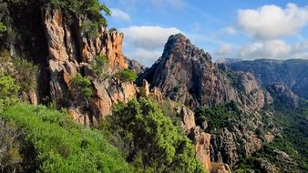 very beautiful corsica rocks