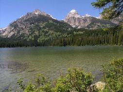 Grand Teton National Park, Wyoming is a tourist attraction