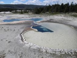 Hot Springs in Yellowstone National Park, USA