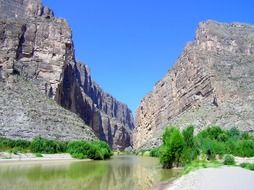 scenic landscape with big bend texas