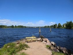 beautiful landscape of big lake in karlstad