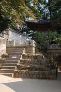 garden staircase in Changdeokgung