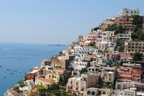 panoramic view of the town of Amalfi, Italy