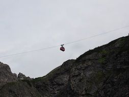 cable car above the cliffs in vorarlberg