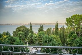 balcony with a view of Lake Garda