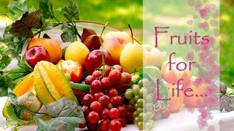 life colors healthy fresh tropical fruit