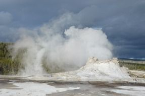beautiful and delightful yellowstone geyser