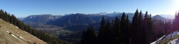 panoramic view of the land of Berchtesgaden