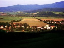 picturesque panorama of a village in Slovakia
