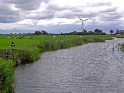 scenic river in netherlands