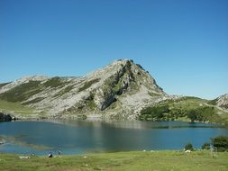 scenic lake in covadonga