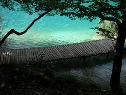 wooden bridge on the Plitvice Lakes