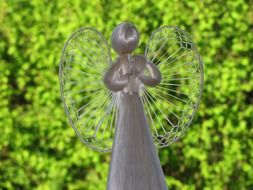 straw angel statue