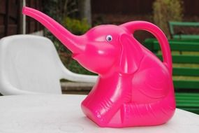 Pink elephant formed watering-can
