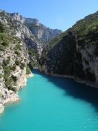 gorge du verdon landscape in France provence