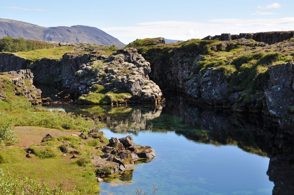 pingvellir national park in Iceland on a sunny day