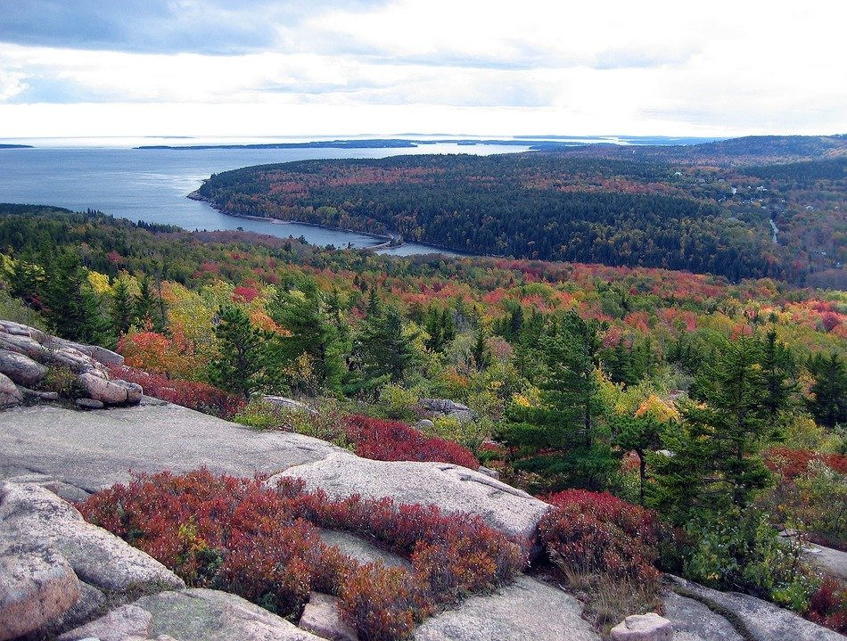 acadia national park maine fall landscape