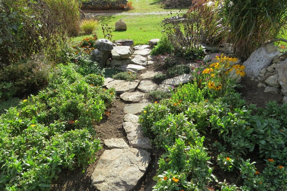 stoned path in the garden