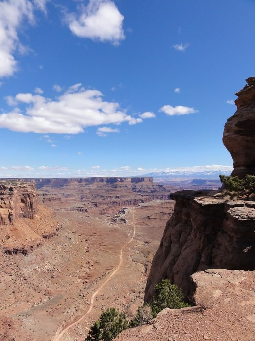 panorama of a natural canyon on a sunny day