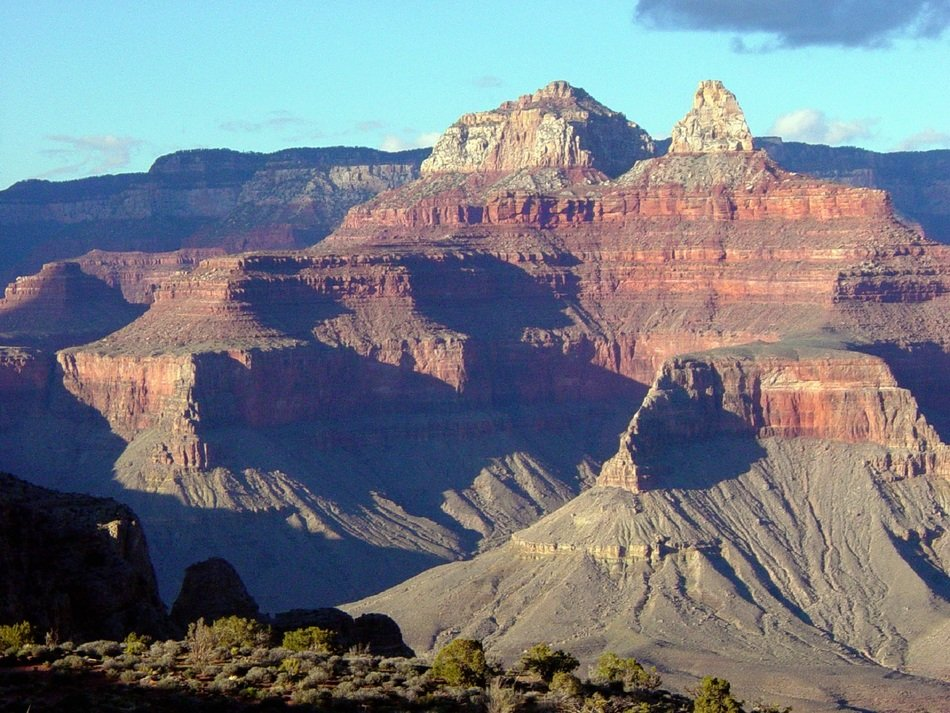 landscape with scenic grand canyon rocks