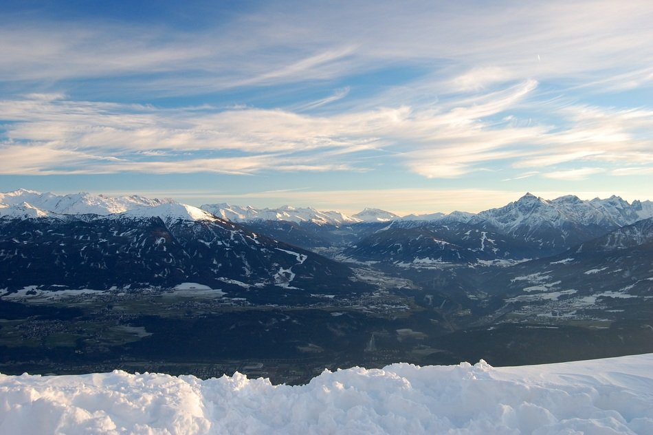 snowy mountain panorama