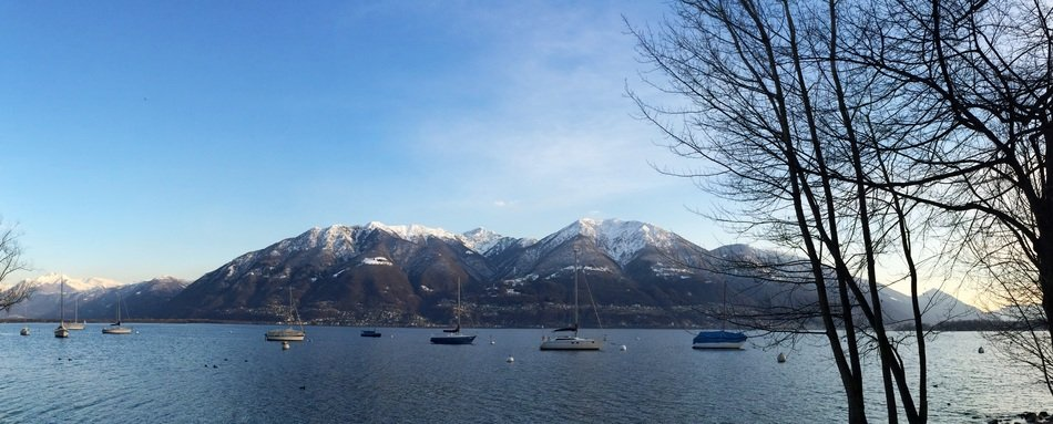 panorama of the lake Lago Maggiore