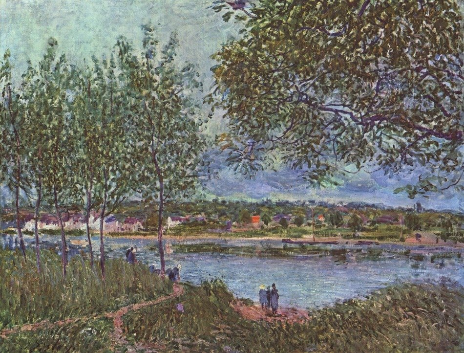 This landscape painting by Alfred Sisley