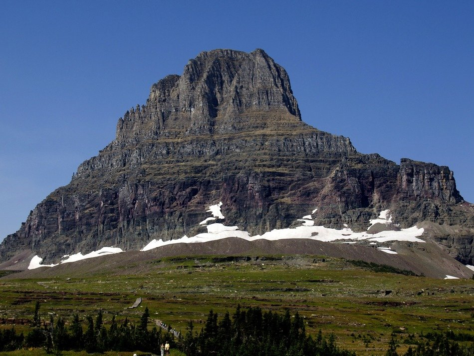 A mountain in a provincial park in Canada