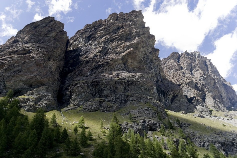 gray rocks in Valle d'aosta