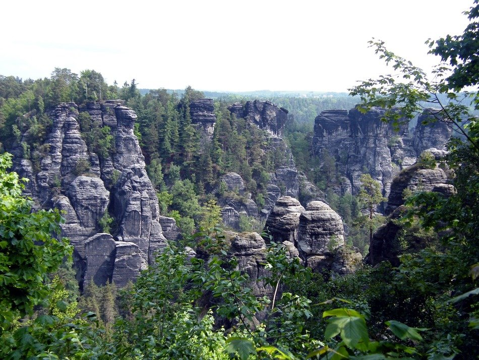 panorama on the Bastei