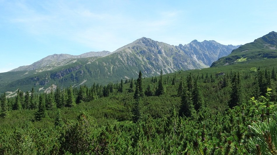 green mountains landscape in tatry