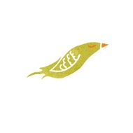 retro cartoon yellow bird N2