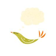 retro cartoon yellow bird N7