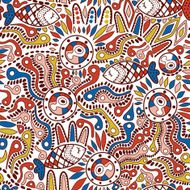 Ethnic seamless pattern N12