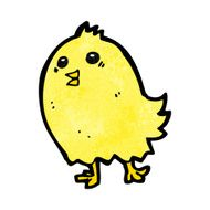 cartoon happy yellow bird N4