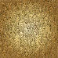 Seamless hand-drawn abstract pattern Endless texture in warm co N4