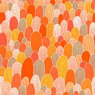 Seamless hand-drawn abstract pattern Endless texture in warm co N5