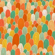 Seamless hand-drawn abstract pattern Endless texture in warm colors N2