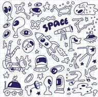space - doodles collection N4