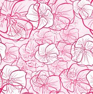 abstract flowers seamless texture