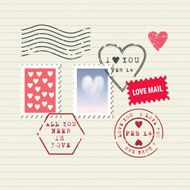 Valentine's Day stamps set N2