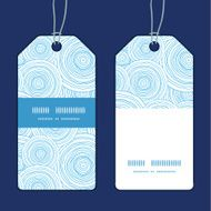 Vector doodle circle water texture vertical stripe frame pattern tags